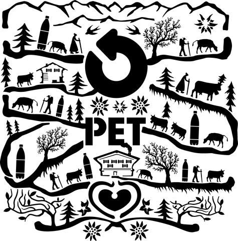 graphisme de la poubelle PET
